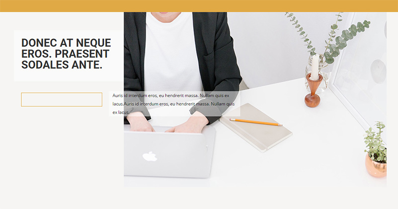 A unique and trendy section design in Divi