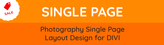 Foto Divi Photography Page Layout