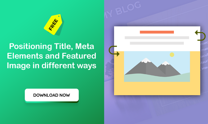 Positioning Title, meta elements and featured image in different ways (Divi Theme)