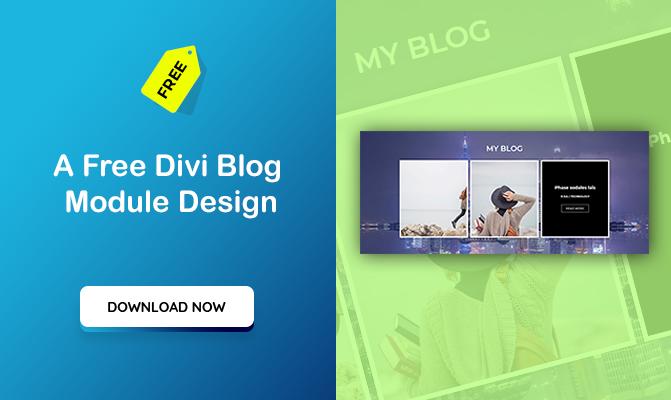 A free Divi blog module design