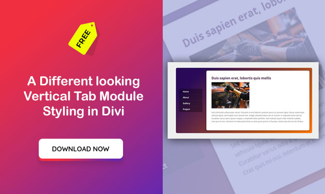 A Different looking Vertical Tab Module Styling in Divi