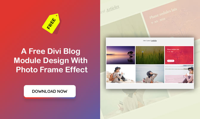 A Divi Blog Module Design With Photo Frame Effect