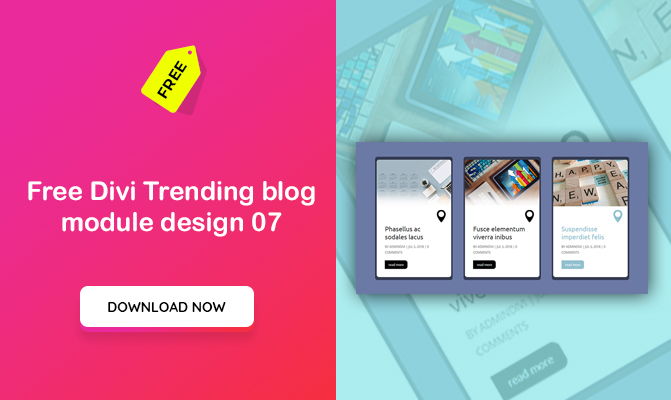 Divi Trending blog module design 07