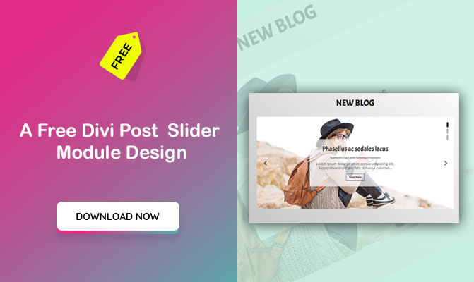 A Free Divi Post  Slider Module Design