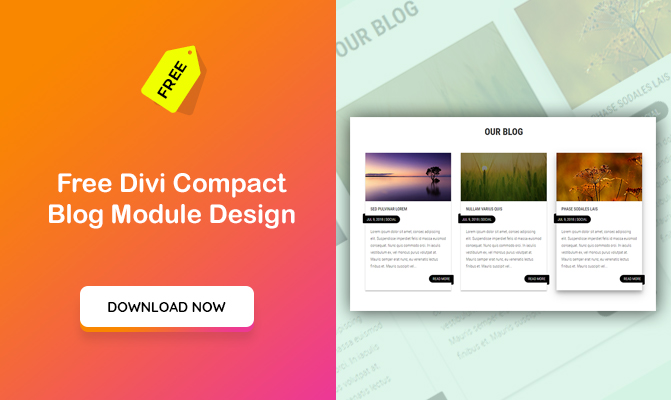 Free Divi Compact Blog Module Design