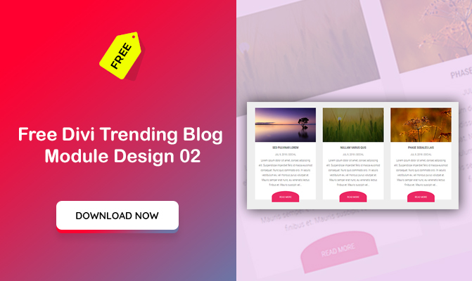 Free Divi Trending Blog  Module Design 02