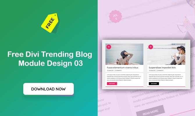 Free Divi Trending blog module design 03