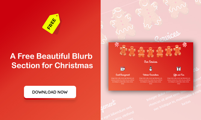 A Free Beautiful Blurb Section for Christmas