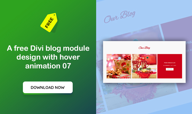 A Divi blog module design with hover animation 07
