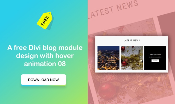 A Divi blog module design with hover animation 08