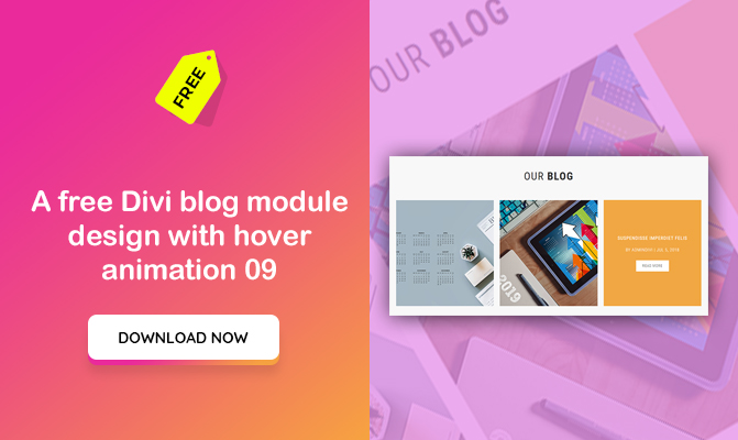 A Divi blog module design with hover animation 09