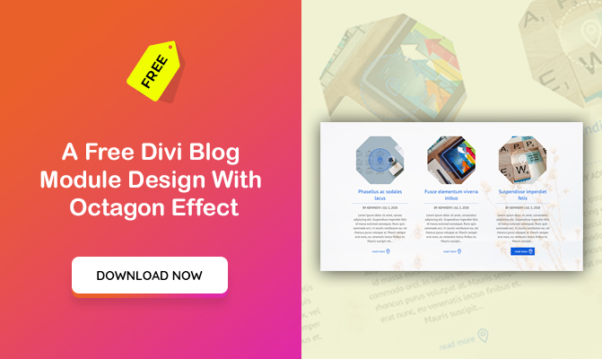 A Divi Blog Module Design With Octagon Effect