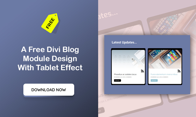 A Divi Blog Module Design With Tablet Effect