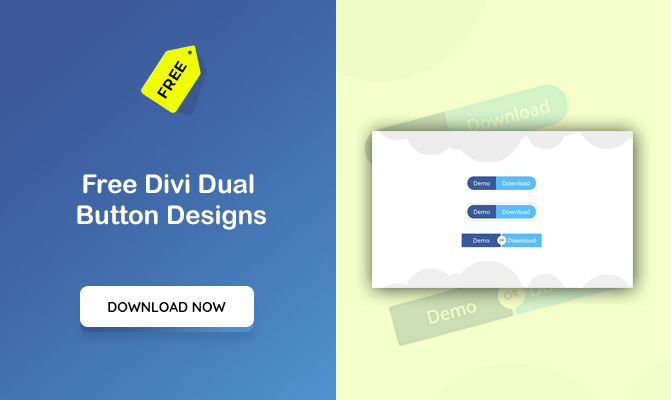 Divi Dual Button Designs