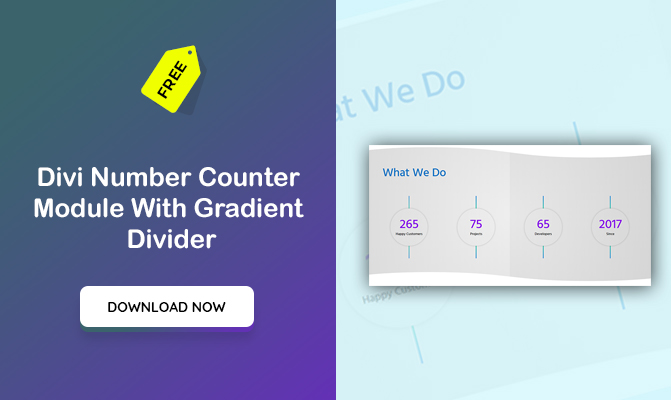 Divi Number Counter Module With Gradient Divider