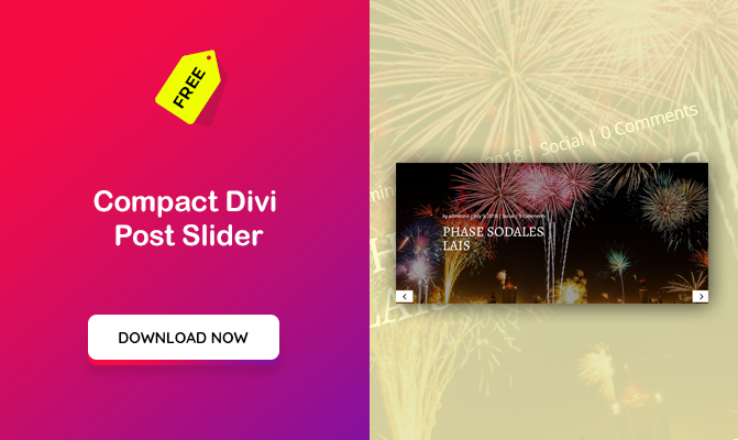 Compact Divi Post Slider
