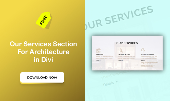Our Services Section For Architecture in Divi