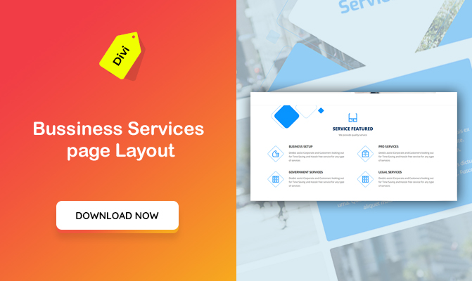 Business Services page Layout