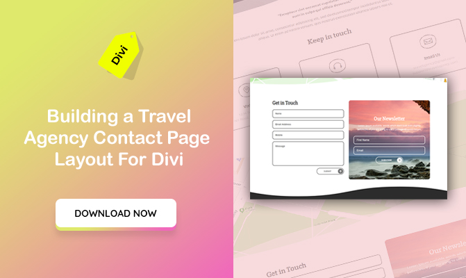 Building a Travel Agency Contact Page  Layout For Divi