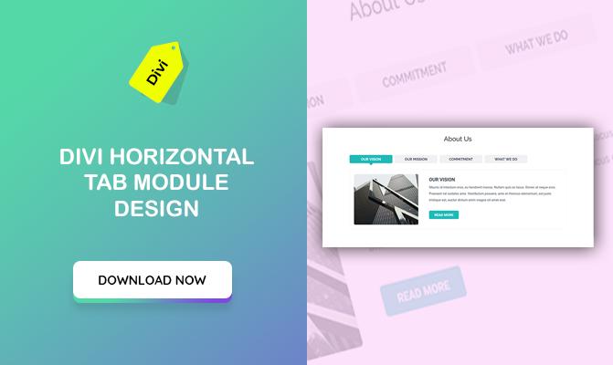 Divi Horizontal Tab Module Design