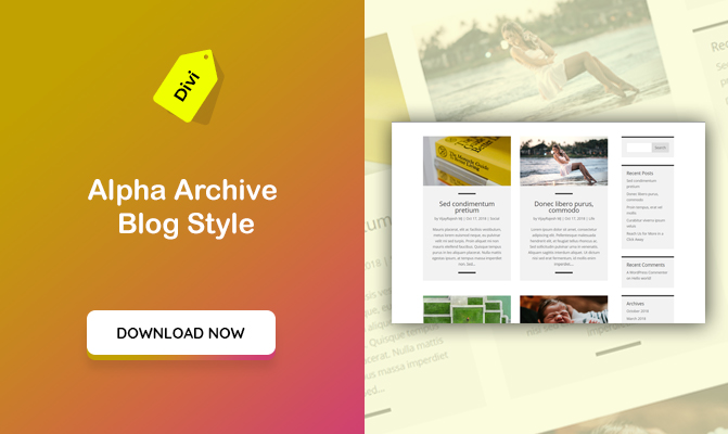 Alpha Archive Blog Styles For DIVI