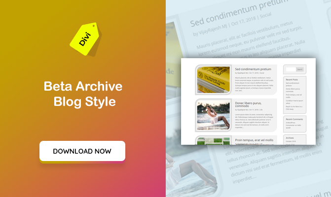 Beta Archive Blog Styles For DIVI