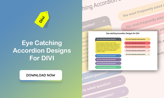 Eye Catching Accordion Designs For DIVI