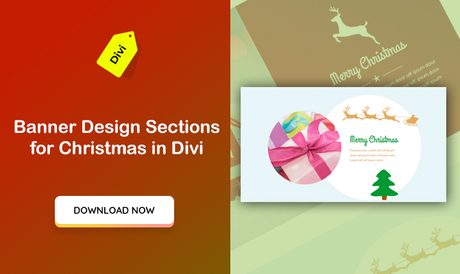 """Banner Design"" Sections for Christmas in Divi"
