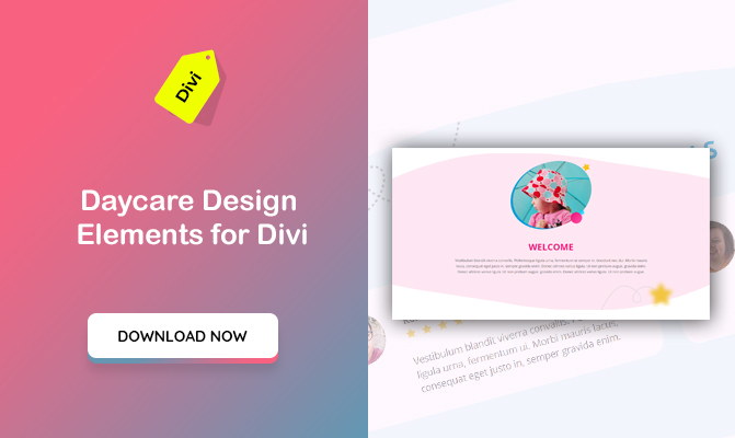 Daycare Design Elements for Divi