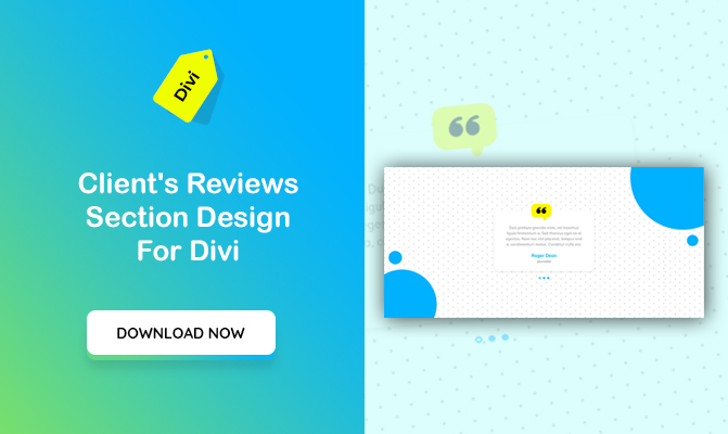Client's Reviews Section Design For Divi