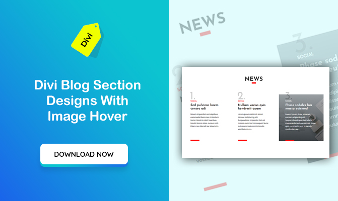Divi Blog Section Designs With Image Hover