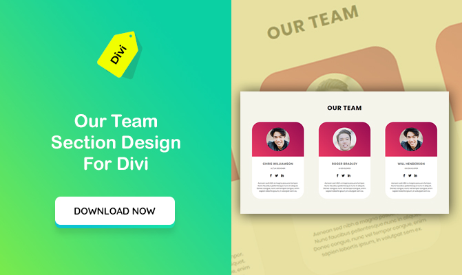 Our Team Section Design For Divi