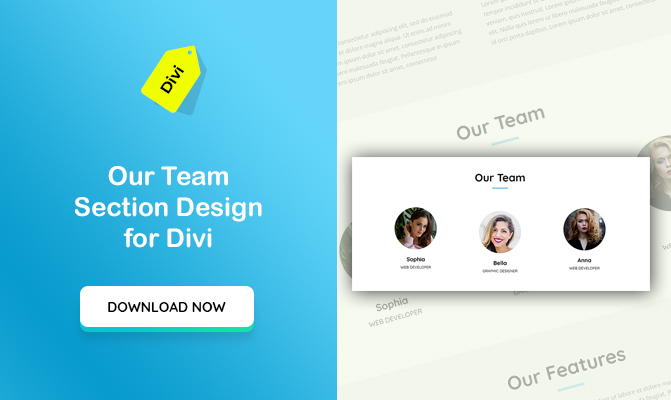 Our Team Section Design For Divi – Animates with Page Scrolling