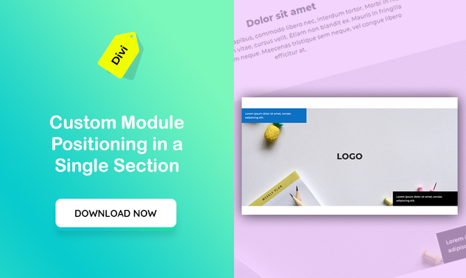Custom Module Positioning in a Single Section in Divi