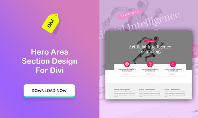 AI Themed Hero Area Section Design For Divi