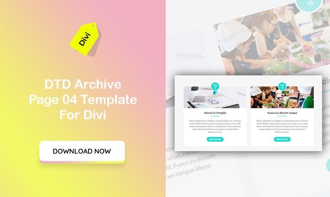 DTD Archive of Blog Posts Design 04 Template for Divi