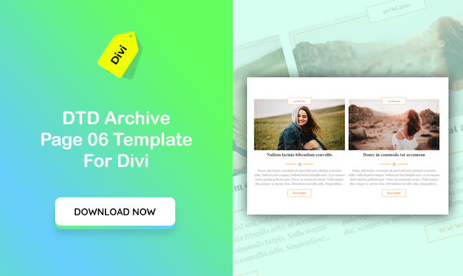 DTD Archive Blog Posts Design 06 Template for Divi