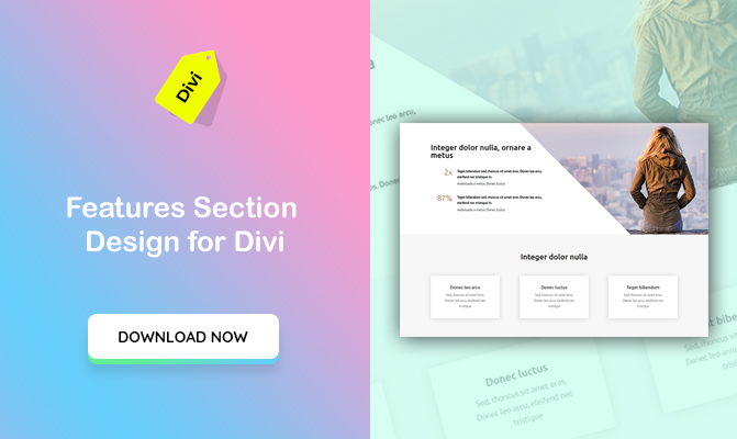 """Business Features"" Section Design for Divi"