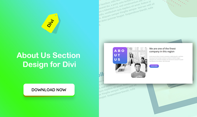 About Us Section Design for Divi