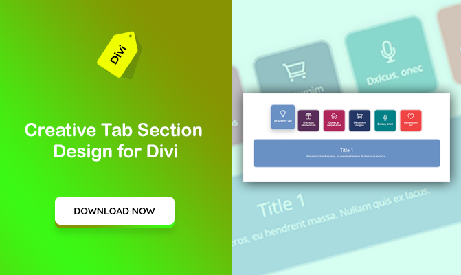 Divi Tab Design with Icons and Text – Full Custom Solution