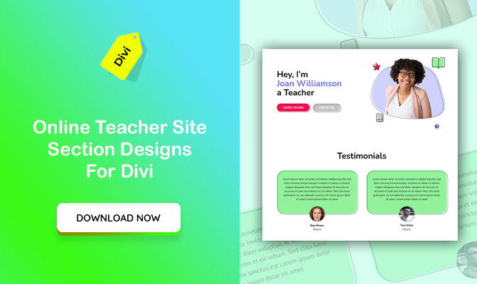 Online Teacher Site Section Designs